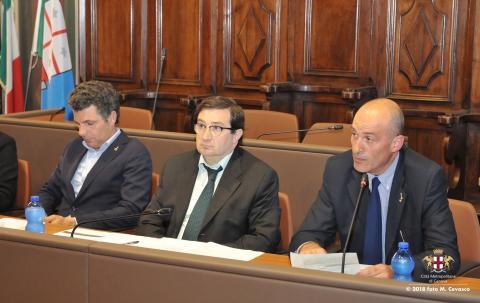 7 Maggio 2018 - Tavolo dei Comuni - Bagnasco, Vinai (ANCI) e Garbarino